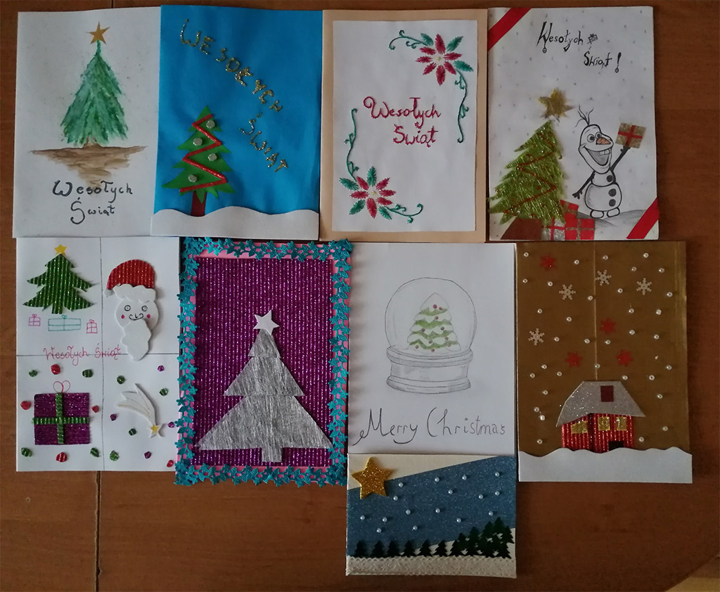Piękne kartki świąteczne